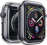 iVoler 2 Pezzi Cover per Apple Watch 42mm Series 3 e Series 2 Custodia, Case in Morbido Silicone di Gel AntiGraffio in TPU Ultra [Slim Thin] Protettiva - Trasparente
